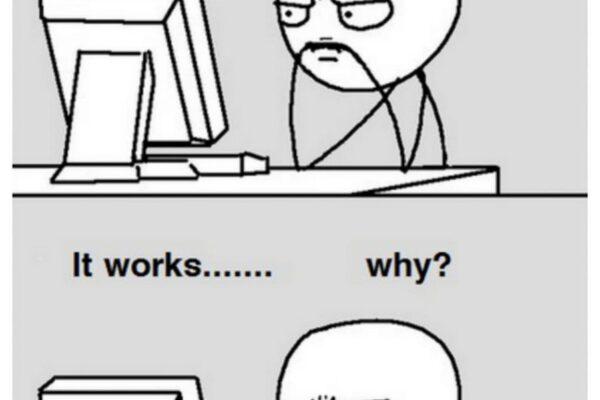 初心者プログラマー、「なぜ動かないか分からない」と同時に「なぜ動いてるかも分からない」という画像がSNSで話題